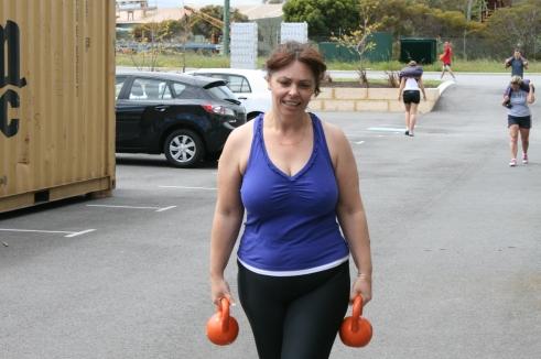 Biljana Comeback Rehab WOD - Farmer's Carry