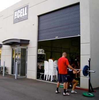 Carl CFE & Fi CrossFit North Queensland hitting up Back Squat day